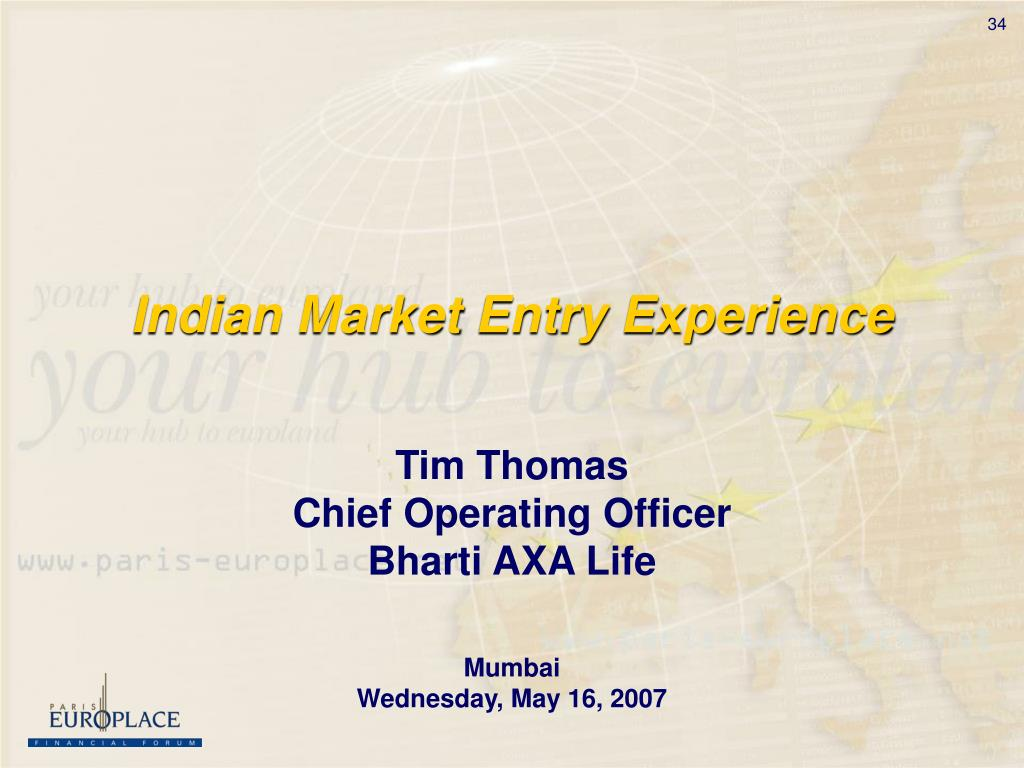 Indian Market Entry Experience