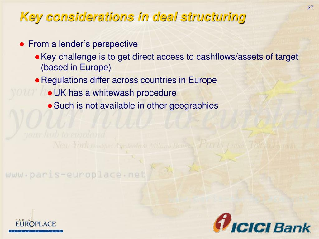 Key considerations in deal structuring