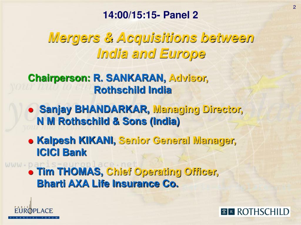 Mergers & Acquisitions between
