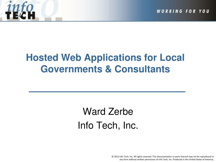 hosted web applications for local governments consultants n.