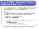 no silver bullet essence and accident in software engineering