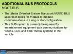 additional bus protocols most bus