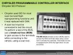 chrysler programmable controller interface chrysler sci protocol