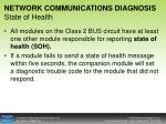 network communications diagnosis state of health
