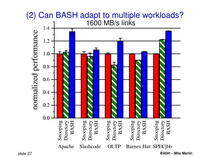 (2) Can BASH adapt to multiple workloads?