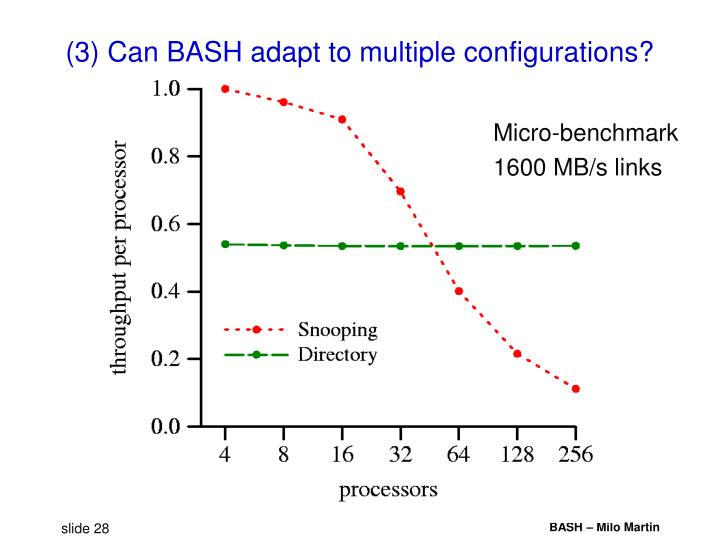 (3) Can BASH adapt to multiple configurations?