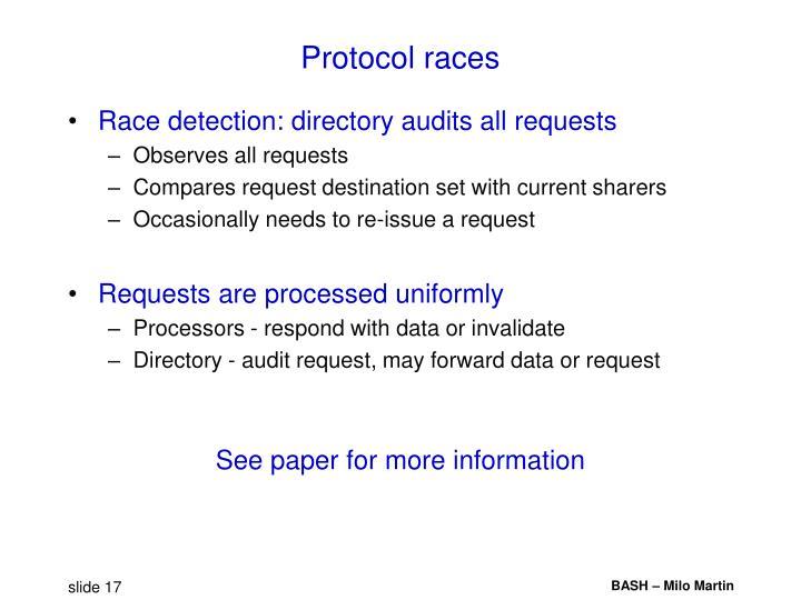 Protocol races