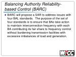 balancing authority reliability based control barc