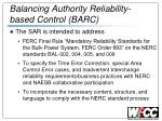balancing authority reliability based control barc1