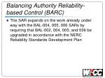 balancing authority reliability based control barc2
