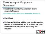 event analysis program document