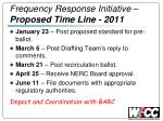frequency response initiative proposed time line 2011