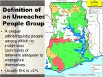 definition of an unreached people group