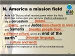n america a mission field
