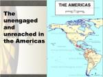 the unengaged and unreached in the americas