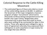 colonial response to the cattle killing movement