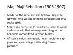 maji maji rebellion 1905 19071