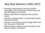 maji maji rebellion 1905 19072