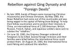 rebellion against qing dynasty and foreign devils
