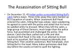 the assassination of sitting bull