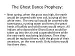 the ghost dance prophesy