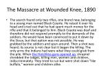 the massacre at wounded knee 1890