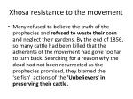 xhosa resistance to the movement