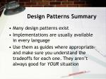 design patterns summary