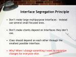 interface segregation principle
