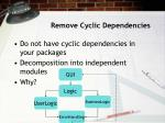 remove cyclic dependencies