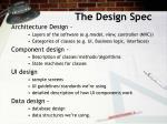 the design spec