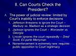 ii can courts check the president