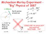 michaelson morley experiment big physics of 1887