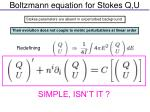 boltzmann equation for stokes q u