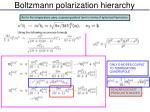 boltzmann polarization hierarchy
