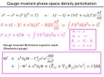gauge invariant phase space density perturbation