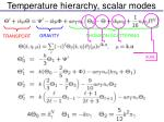 temperature hierarchy scalar modes