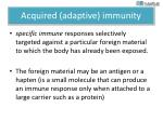 acquired adaptive immunity