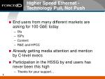 higher speed ethernet technology pull not push