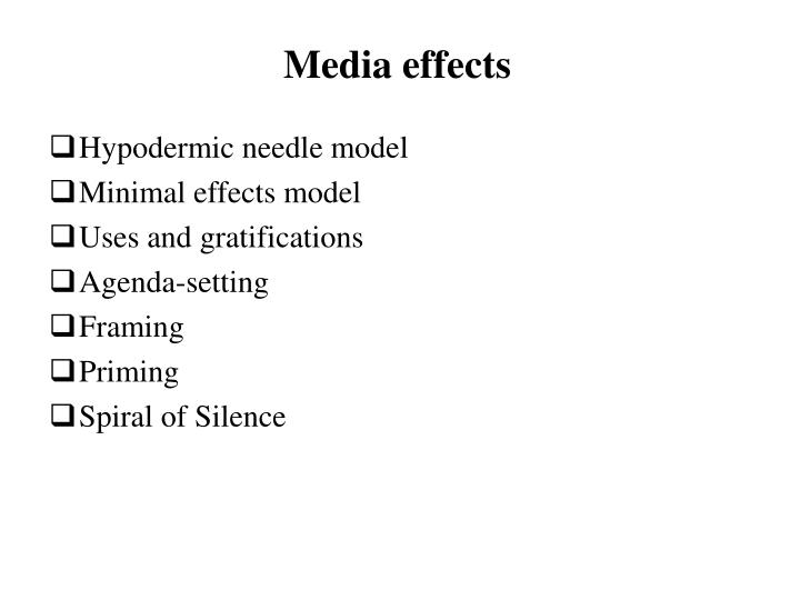 media effects n.