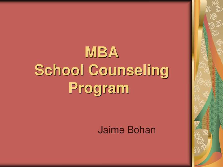 mba school counseling program n.
