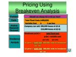 pricing using breakeven analysis