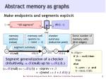 abstract memory as graphs
