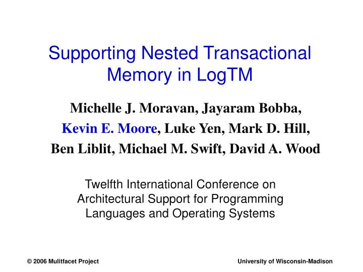 supporting nested transactional memory in logtm n.