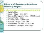 library of congress american memory project