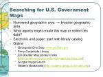 searching for u s government maps