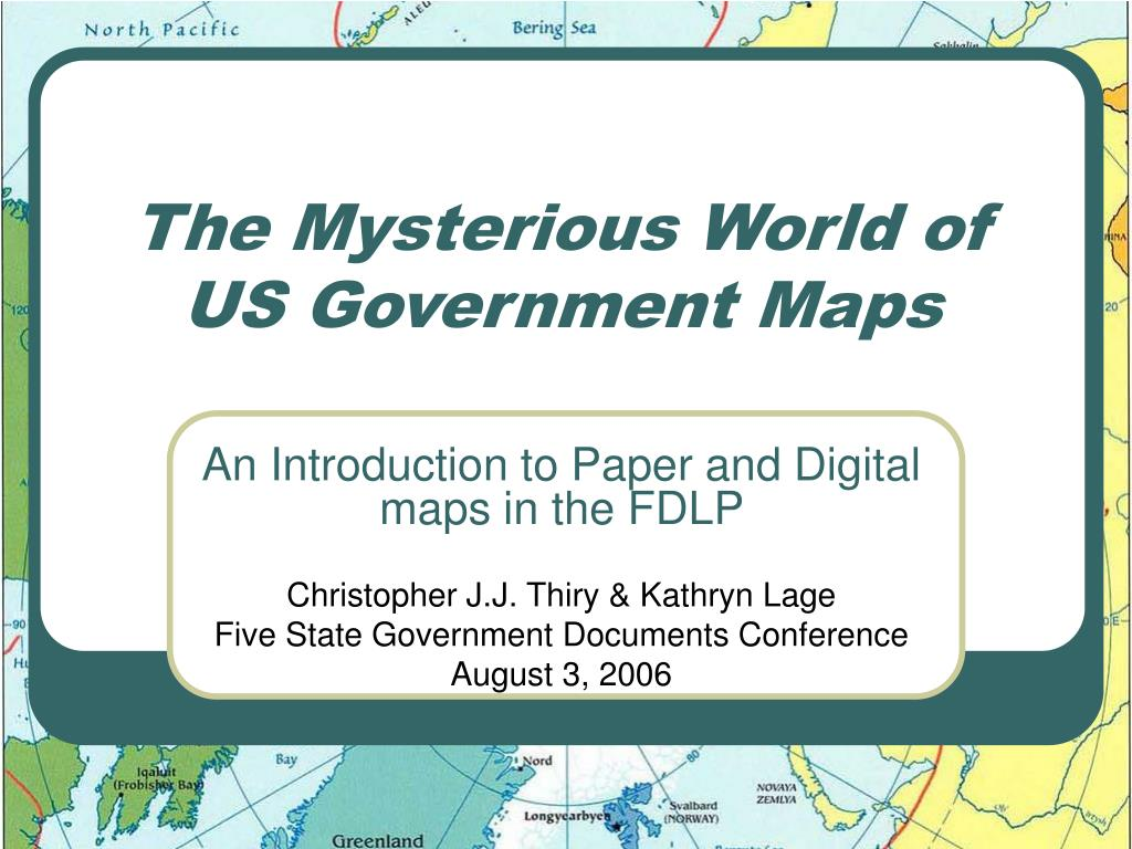 the mysterious world of us government maps l.