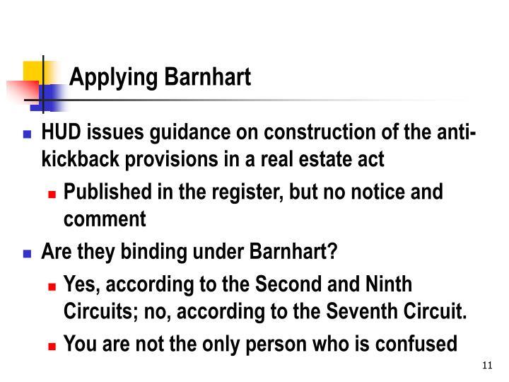 Applying Barnhart