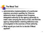 the mead test