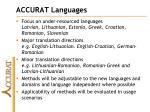 accurat languages